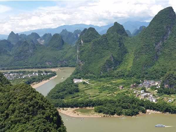 The Li River as viewed from Xianggong Hill